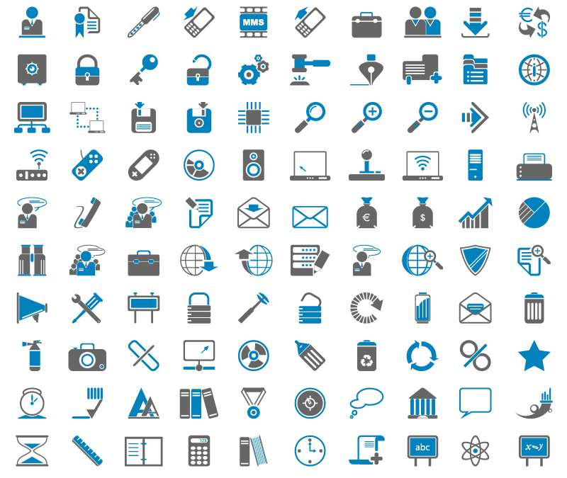 free vector 200 Free Web Icons