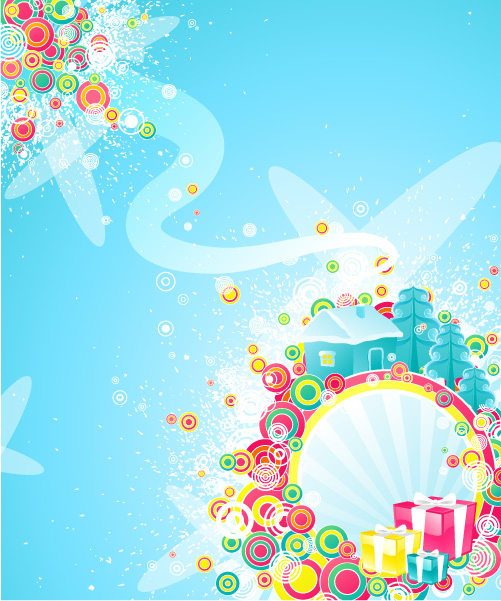 free vector 2008 Christmas vector material-3