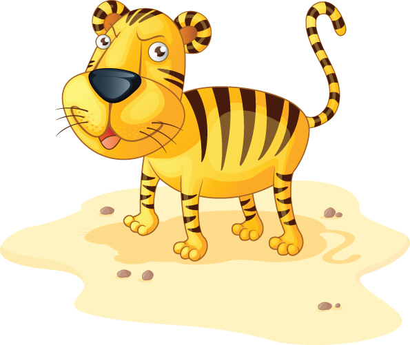 free vector 2010 calendar with cute tiger vector