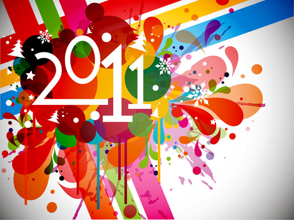 free vector 2011 bright colorful background pattern vector