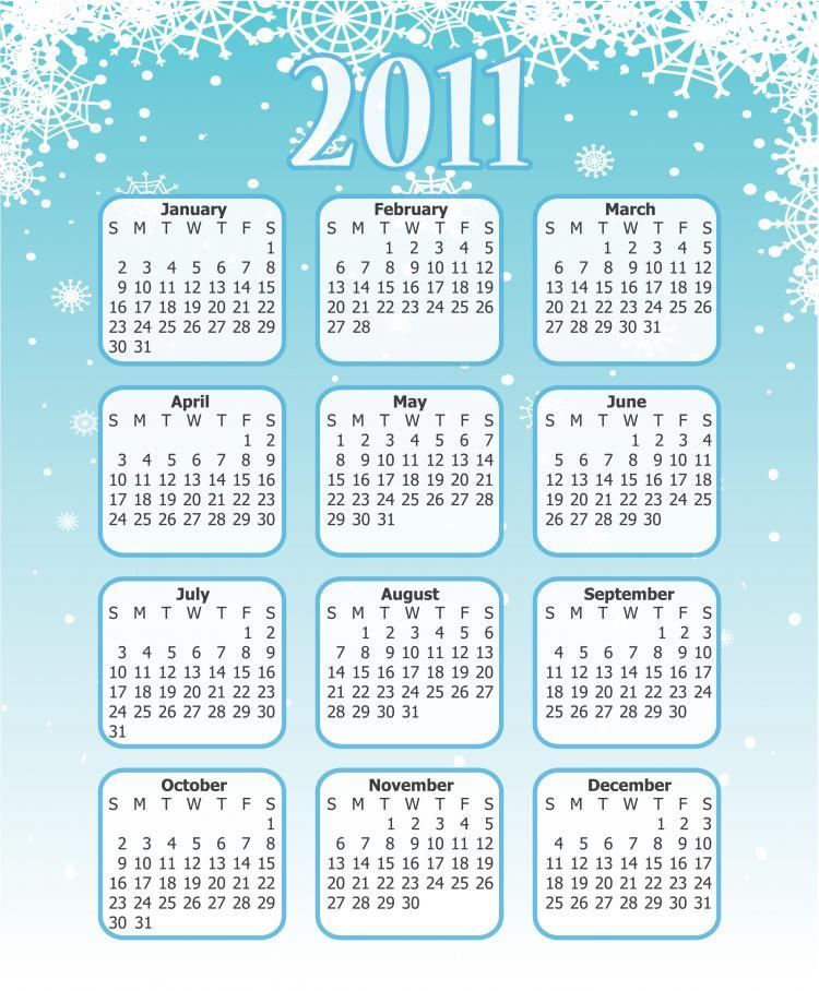 free vector 2011 calendar template 2 vector