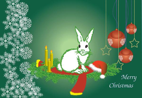 free vector 2011 calendar year of the rabbit vector