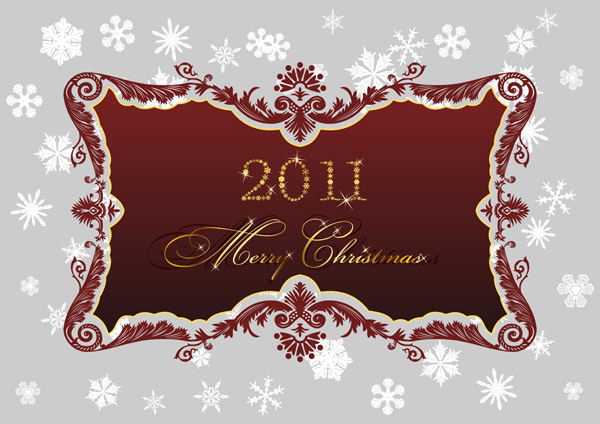 free vector 2011 christmas pattern vector
