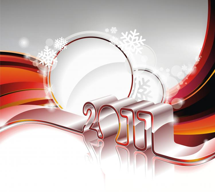 free vector 2011 new year background image vector