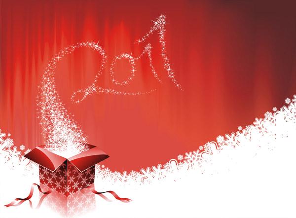 free vector 2011 new year christmas vector