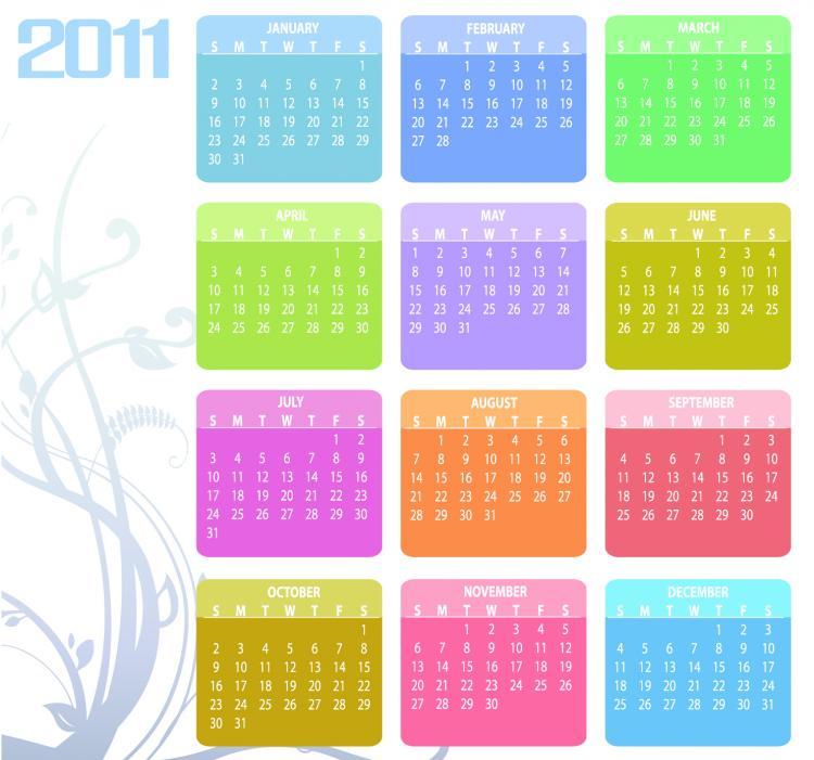 2011 vector calendar template vector Free Vector / 4Vector
