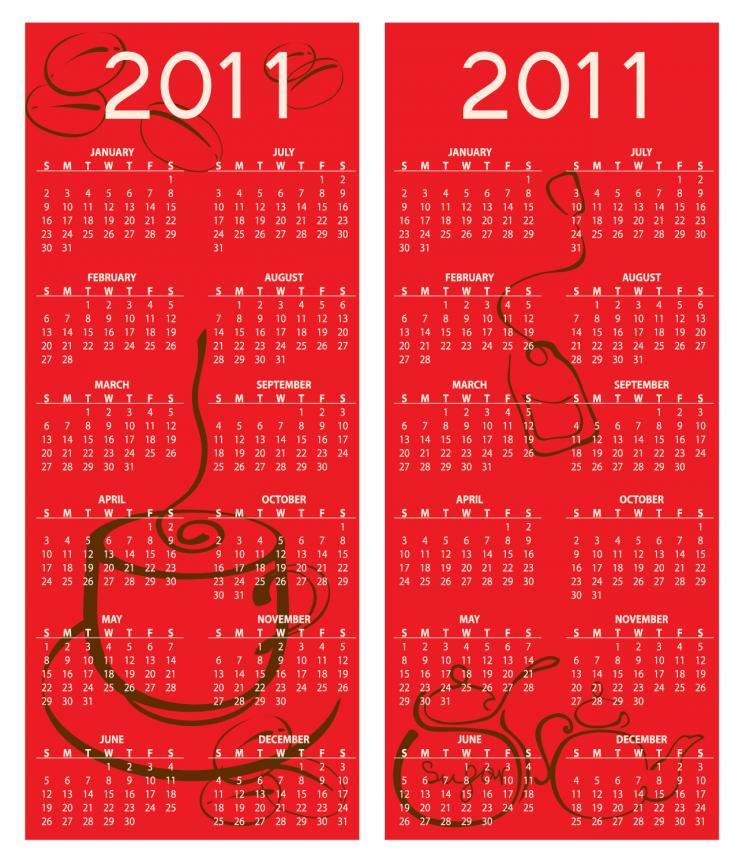 free vector 2011 vector calendar