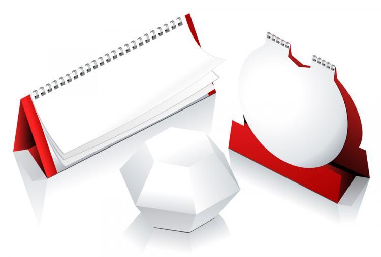 free vector 2012 calendar desk calendar model 03 vector