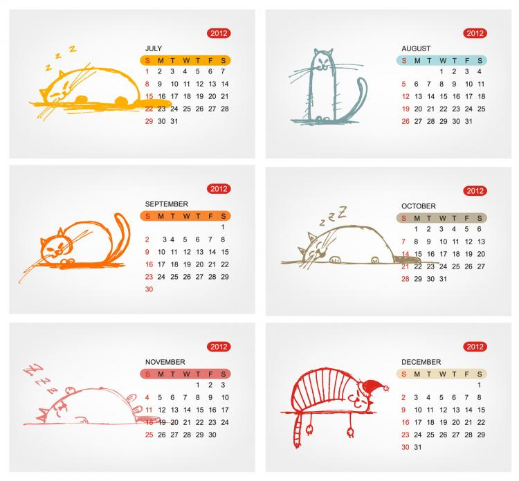 Calendar Template Vector : Calendar template vector free
