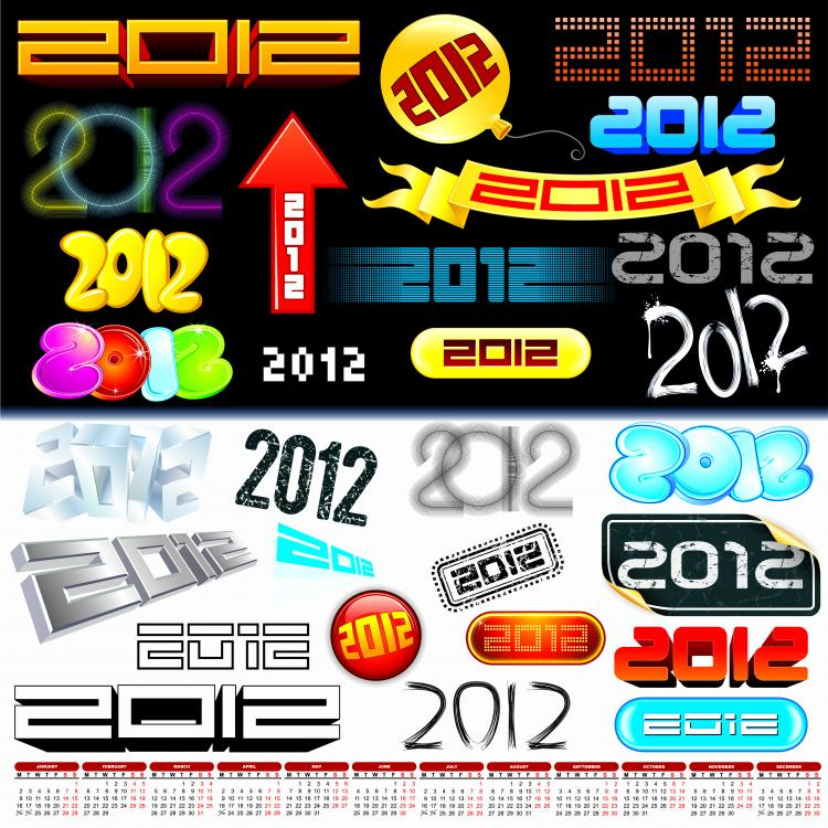 free vector 2012 creative arts word vector
