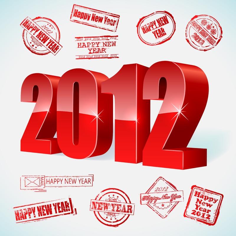 free vector 2012 creativity font 01 vector