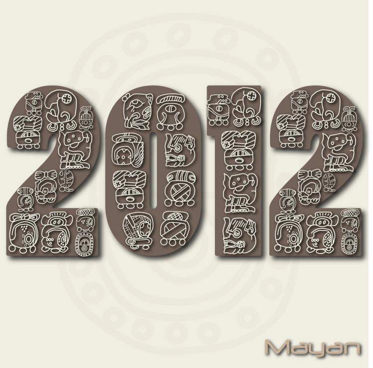 free vector 2012 text style vector