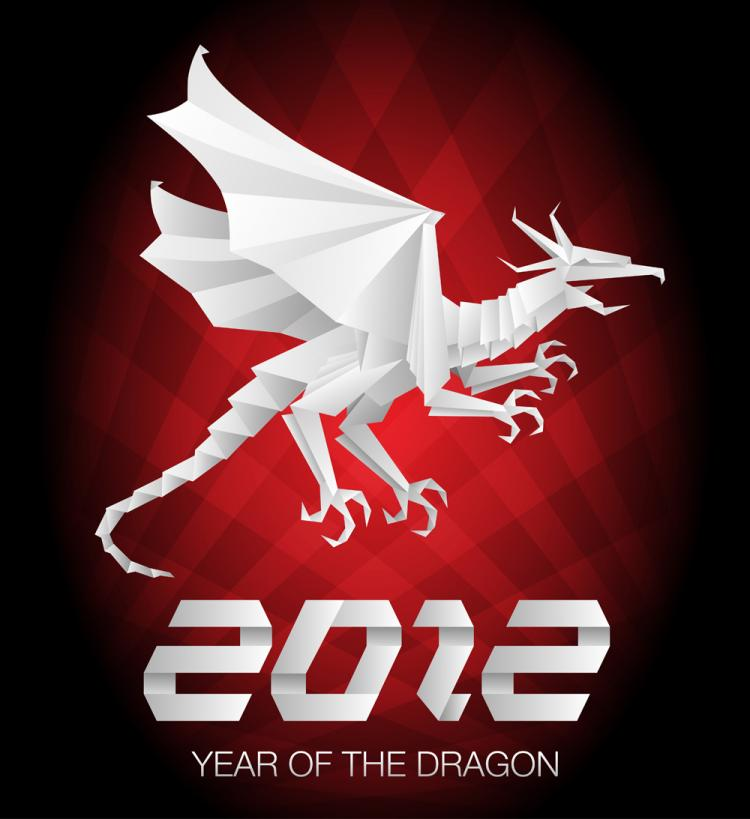 free vector 2012 year of the dragon 04 vector