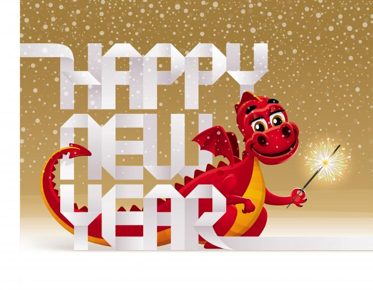 free vector 2012 year of the dragon design 01 vector