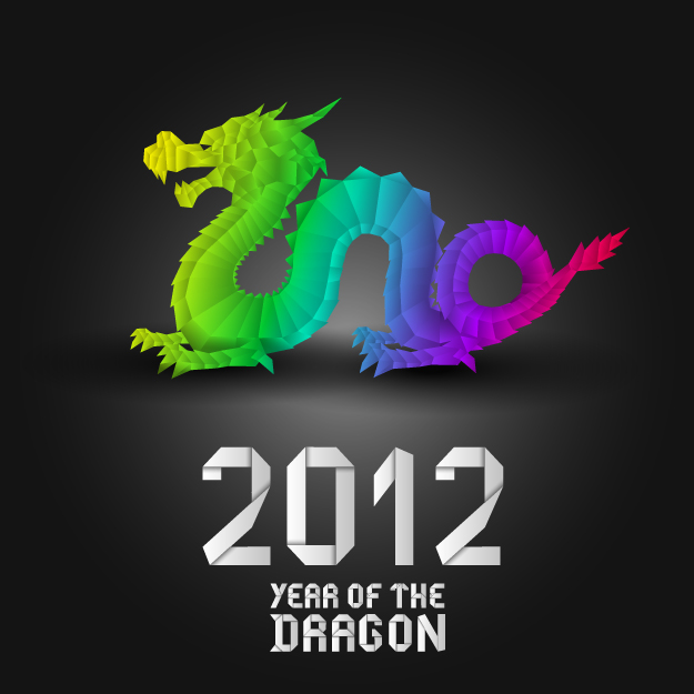 free vector 2012 year of the dragon design 03 vector