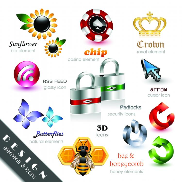 free vector 24 Beautiful and Free 3D Vector Icons