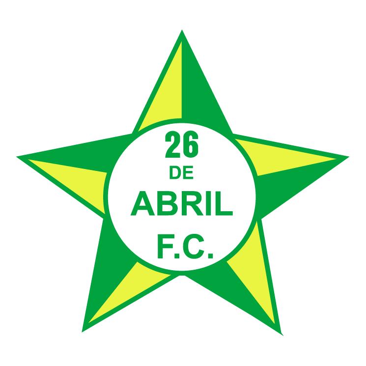 free vector 26 de abril futebol clube do rio de janeiro rj