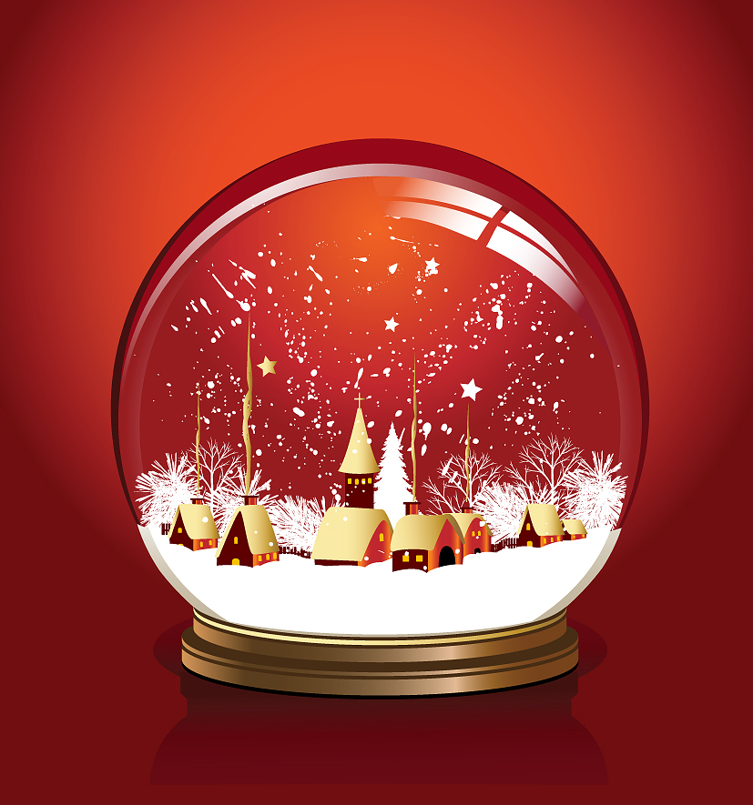 3 beautiful christmas vector Free Vector / 4Vector