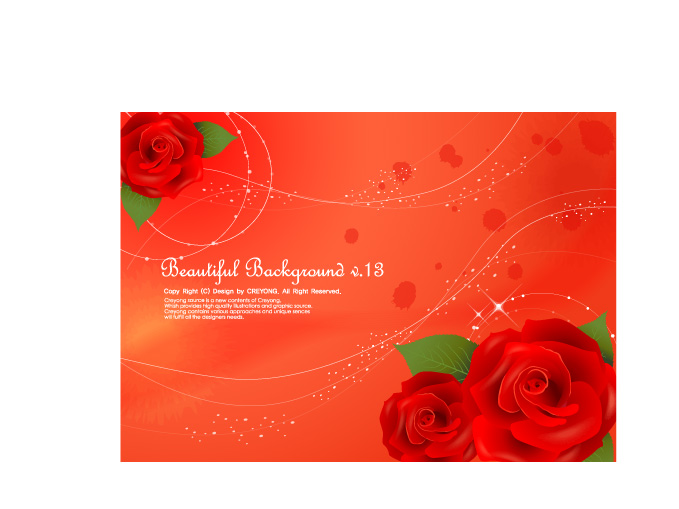 free vector 3 beautiful roses background vector