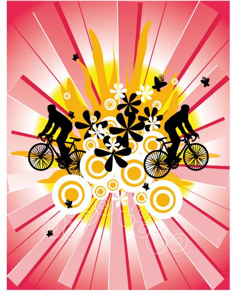 free vector 3, bike vector material