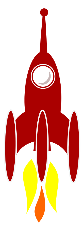 free vector 3 Booster Rocket