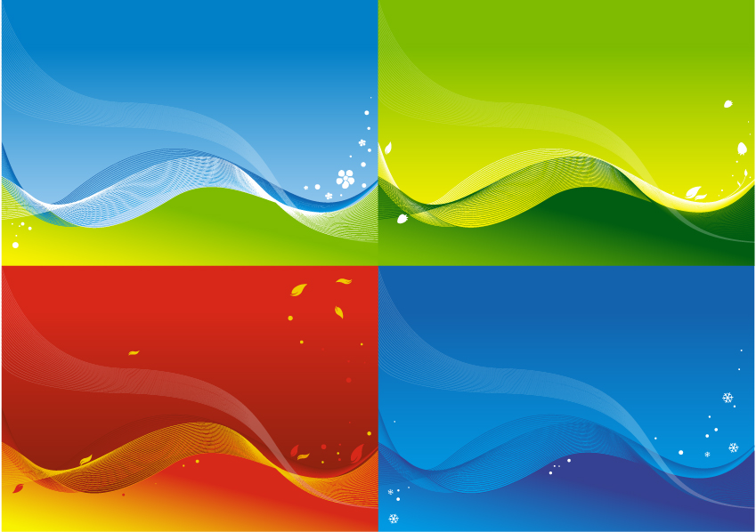 free vector 3 colorful vector