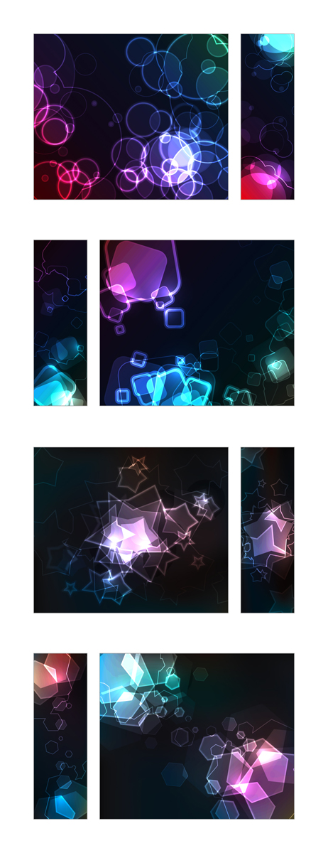 free vector 3 cool glare background vector