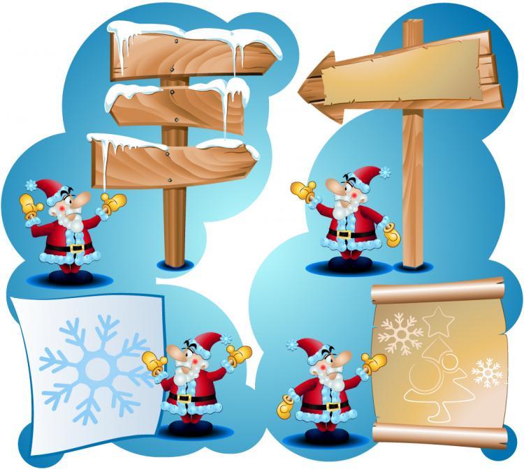 free vector 3 cute christmas vector