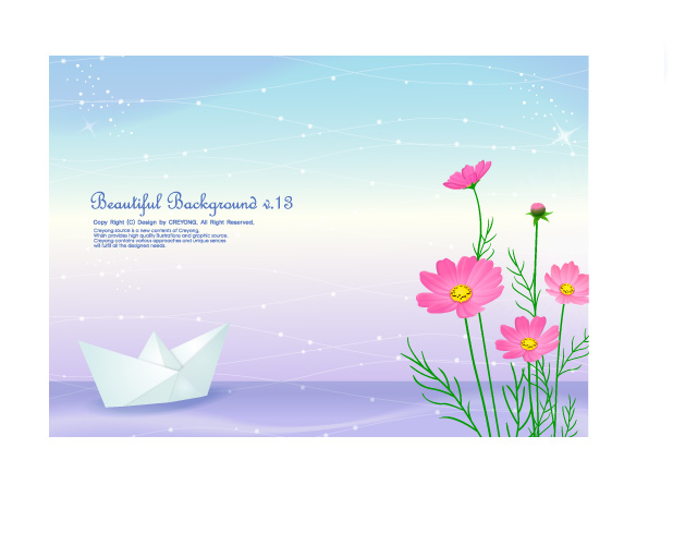free vector 3 cute little daisy and background vector from