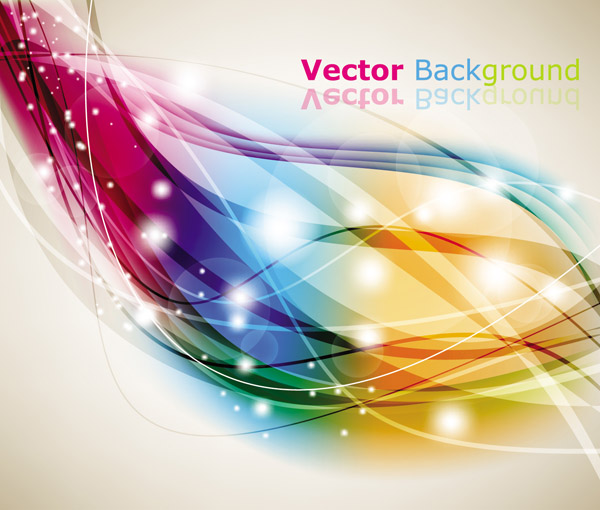 free vector 3 dream dynamic lines of the background vector