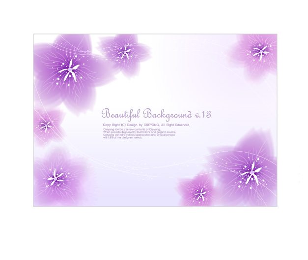 free vector 3 dynamic flower background vector
