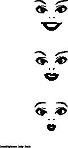 free vector 3 Faces clip art