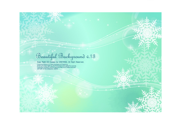 free vector 3 fluttering snowflakes vector background