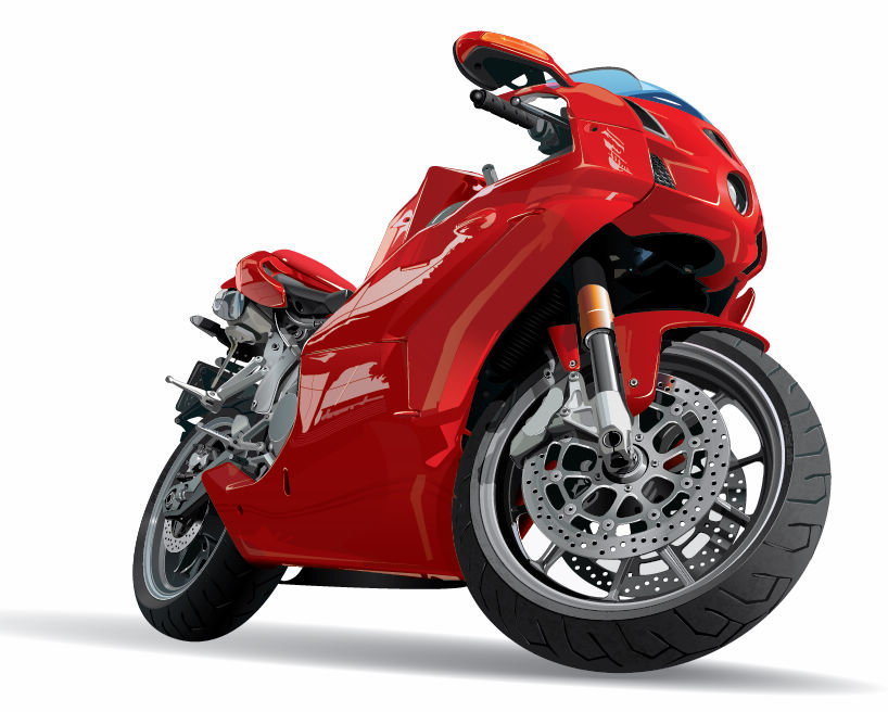 free vector 3 Free Vector Realistic Motor Cycles