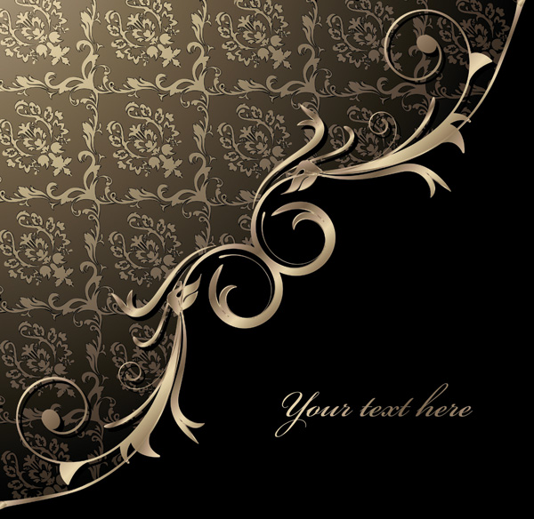 free vector 3 gorgeous european classical pattern vector