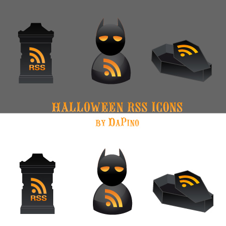 free vector 3 Halloween RSS Icons