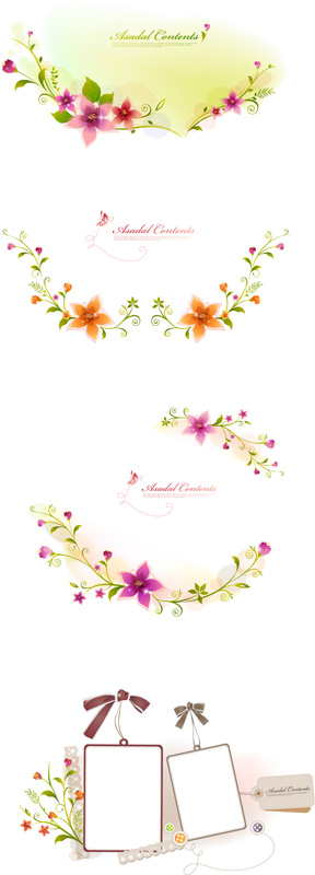 free vector 3 oval lace vector