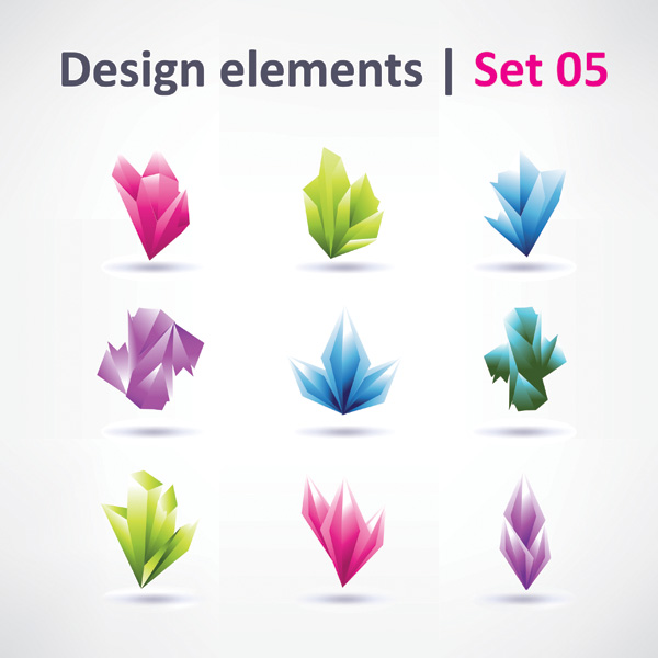 free vector 3 sets of beautiful vibrant graphic design vector 2