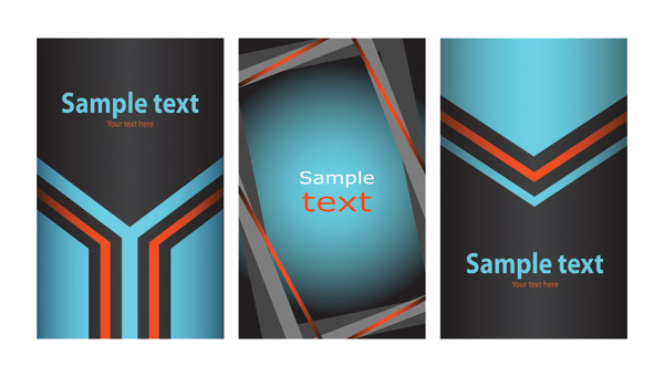 free vector 3 sets of card template vector