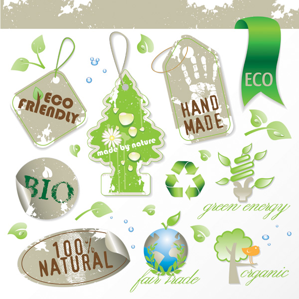 free vector 3 sets of green icon vector