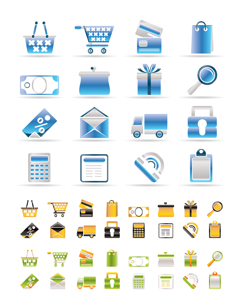 free vector 3 sets of utility icon vector