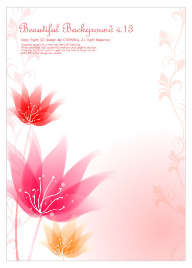 free vector 3 small flower background vector dream