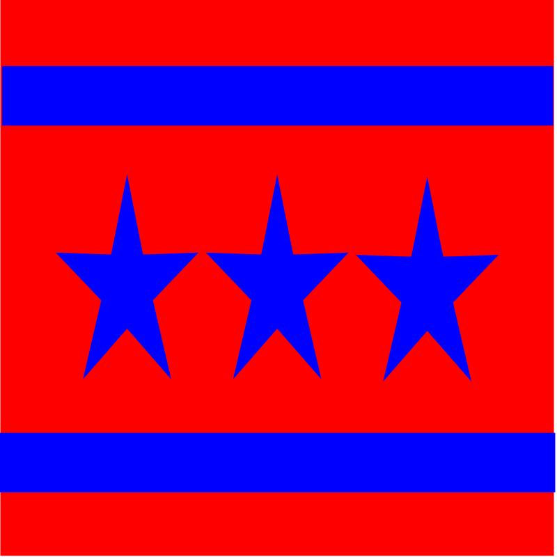 free vector 3 Star Flag
