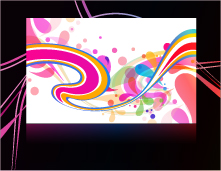 free vector 3 the trend of the background vector