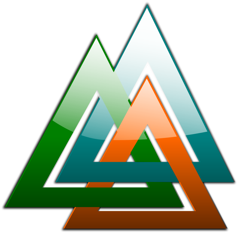 free vector 3 Triangles Linked