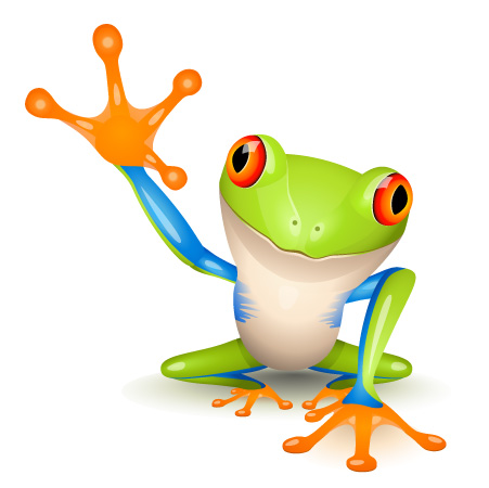 free vector 3 vector cute frogs