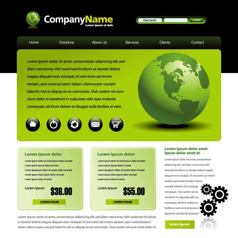 free vector 3 web design vector