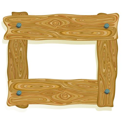 wood frame border clip art Free Vector / 4Vector
