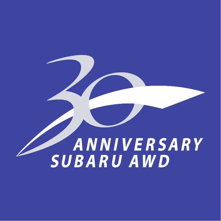 free vector 30 anniversary subaru awd
