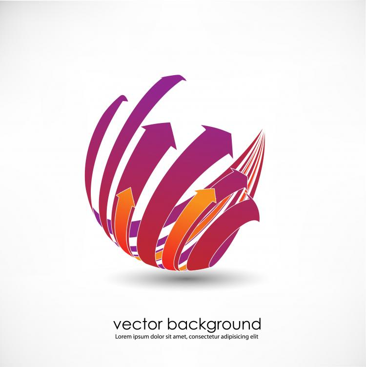 free vector 3d dynamic logo01 vector